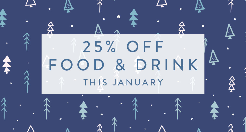 24% off food and drink this January